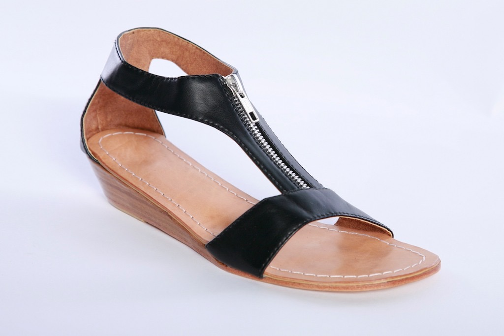 ZIP WEDGE SANDAL