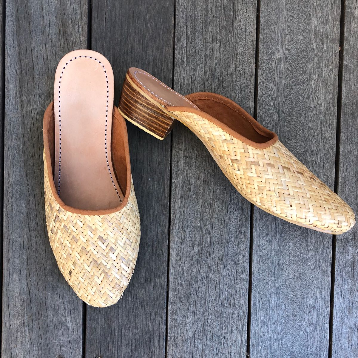 RATTAN LOAFER HEEL