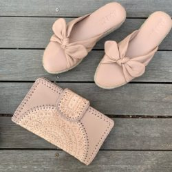 LEATHER BOW ESPADRILLE WEDGE